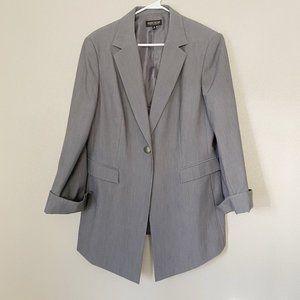 JOHN MEYER Collection Gray Long Blazer Jacket